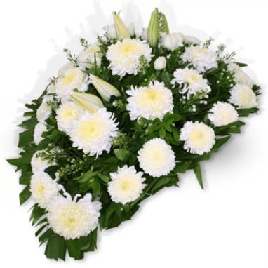 Pie de Caja Fúnebre Floral